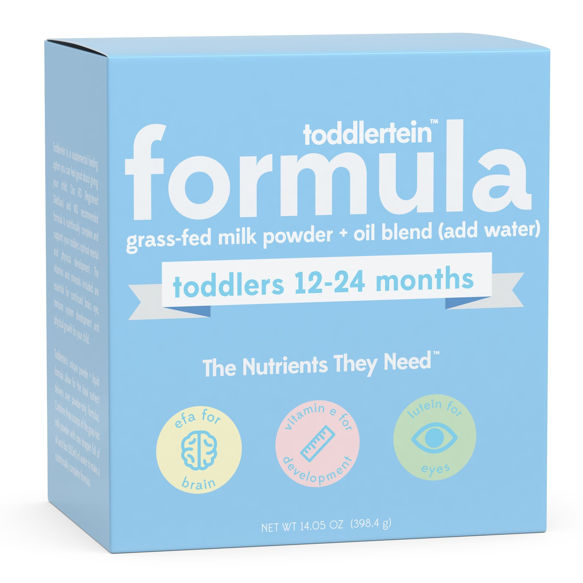 Toddlertein: The First Grass-fed Milk Toddler Formula that is 100% Soy-free, Hormone-free & Non-GMO. Complete 25 Vitamins and Minerals. Gluten free. No Added Sugar. >1 year