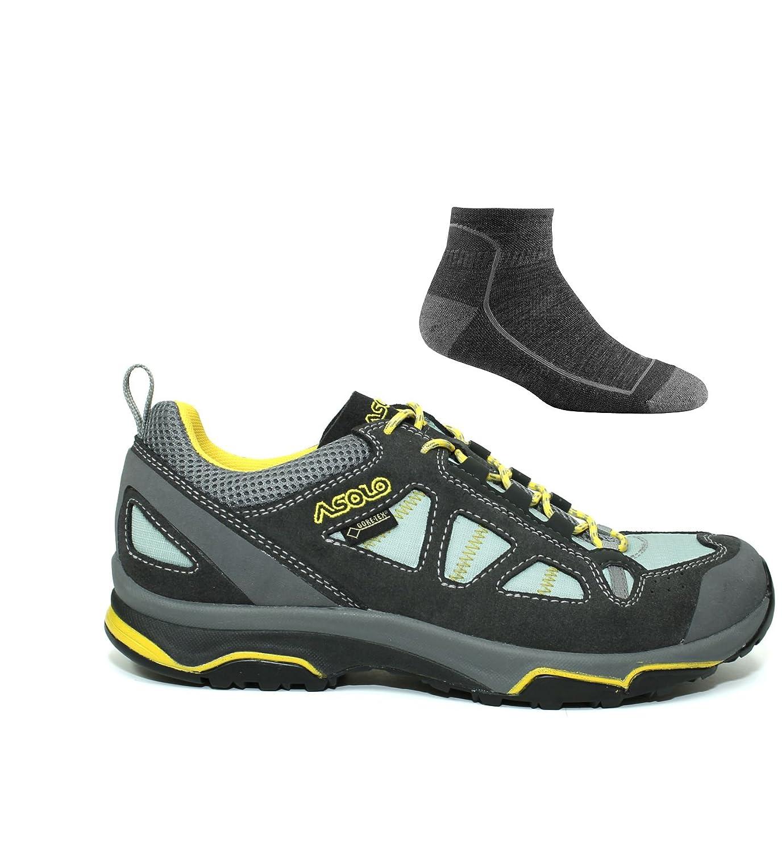 Asolo Womens Megaton GV B06ZYM31FQ 9.5 B(M) US|Graphite/Poolside W/ Socks