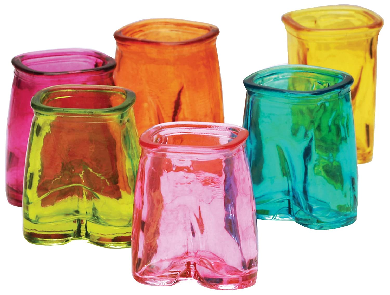 Fun Multi Color Pants Shot Glasses Set