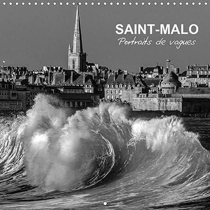 Saint Malo Portraits de vagues Calendrier mural 2021 300 × 300 mm