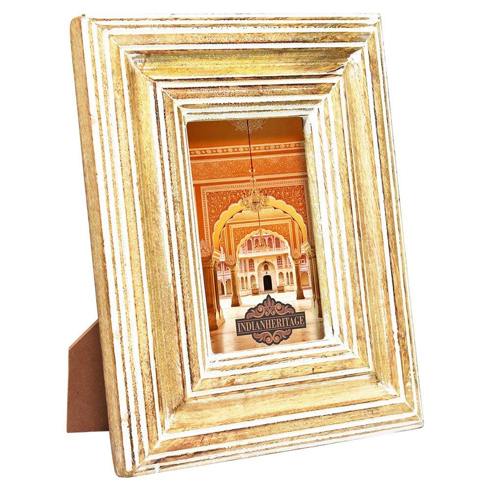 Amazon.com - Indian Heritage - Wooden Photo Frame 5x7 Mango Wood ...