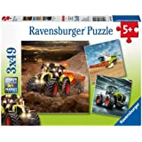 Ravensburger - 09301 4 - Puzzle - Claas - Axion, Lexion, Xerion - 3X 49 Pièces