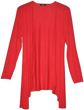 wasserfall strickjacke damen rot größe 46
