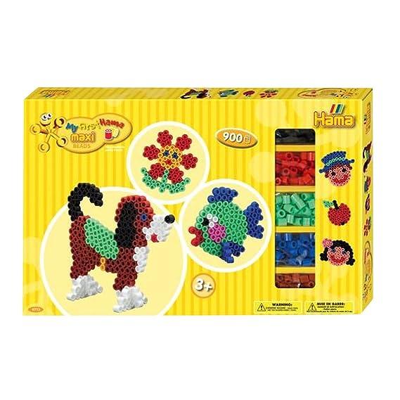 Hama 8712 - Gigantische Geschenkpackung, ca. 900 Maxi-Bügelperlen, 2 Stiftplatten und Zubehör