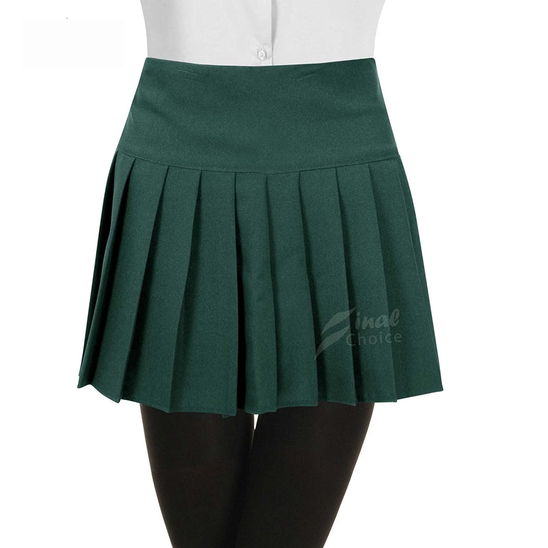 green UK 11-10 Think-louder New Britney Spears Kids Children Pleated School Skirts Uniform Skirt