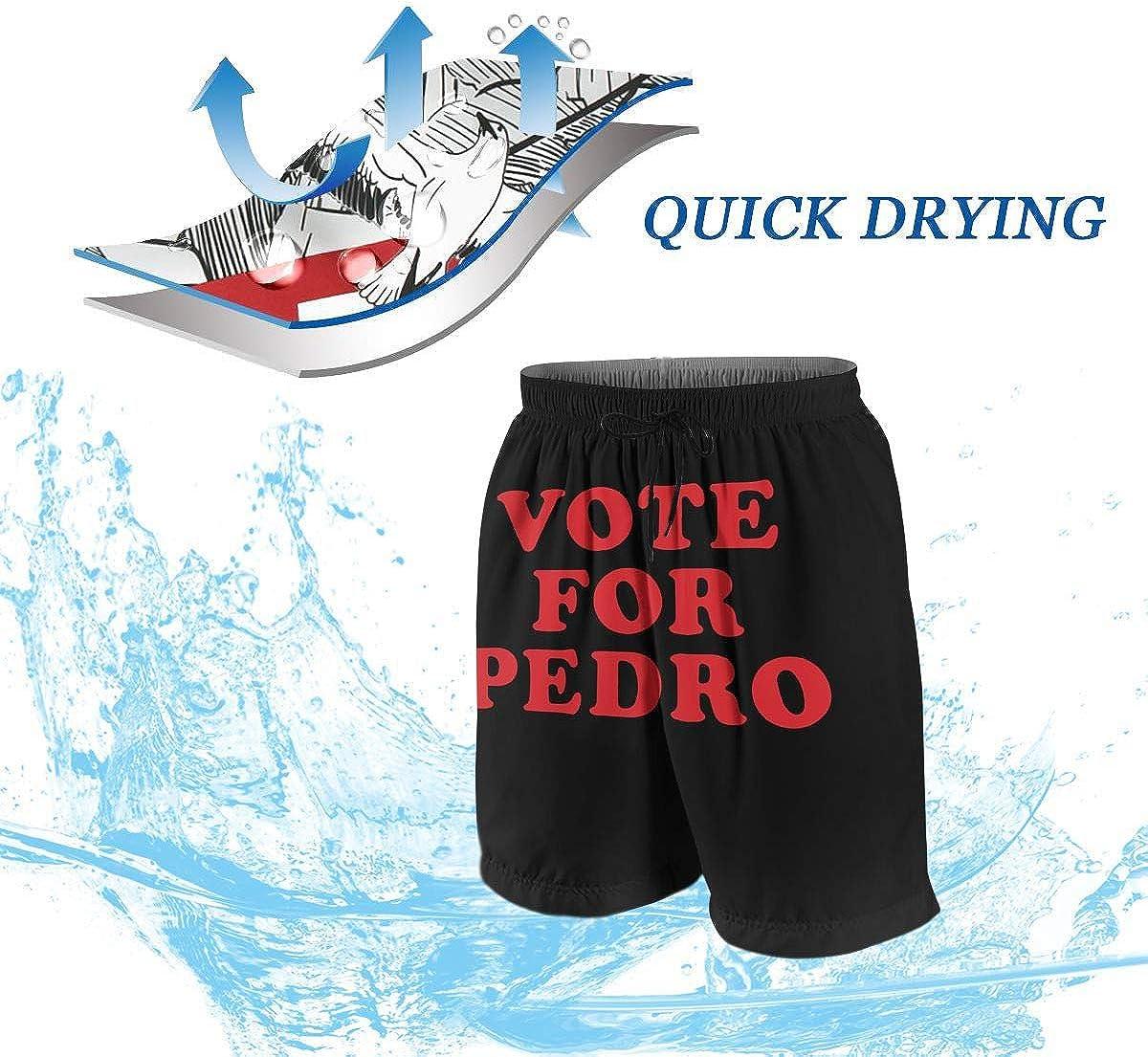 Hkany Vote for Pedro Teenager Boys Beachwear Beach Shorts Pants Board Shorts