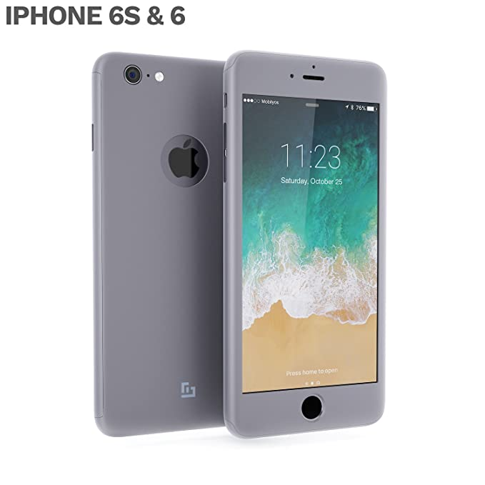 Funda iPhone 6s PLUS 360 Grados Completa - Carcasa Integral con Protector de Pantalla de Vidrio Templado para iPhone 6 / 6s PLUS - Funda Delantera y ...