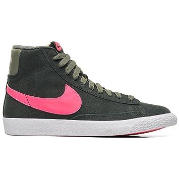 Nike Blazer Mid Vintage Zapatillas Moda Sneakers Gris Rosa para Mujer: Amazon.es: Deportes y aire libre
