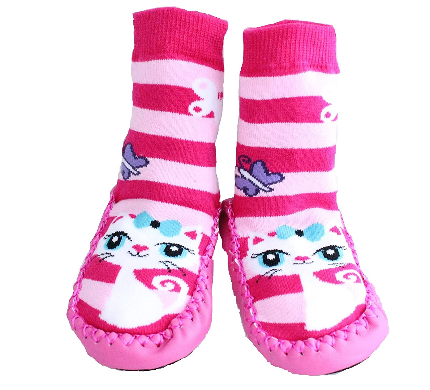 Baby Girl Toddlers Kids Indoor Slippers Shoes Socks Moccasins NON