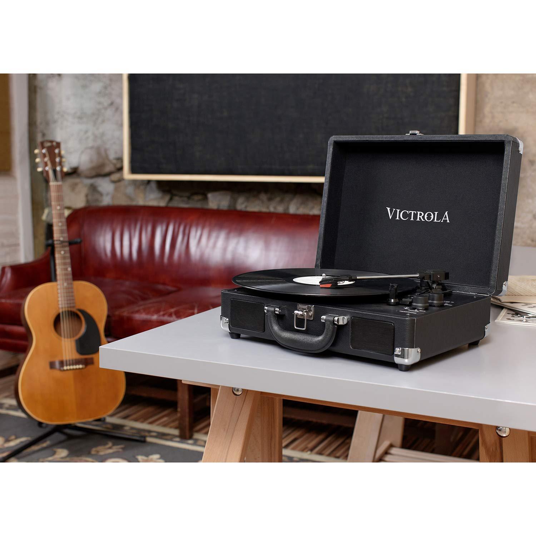 Victrola Suitcase Tocadiscos en maleta Vintage Bluetooth - Negro