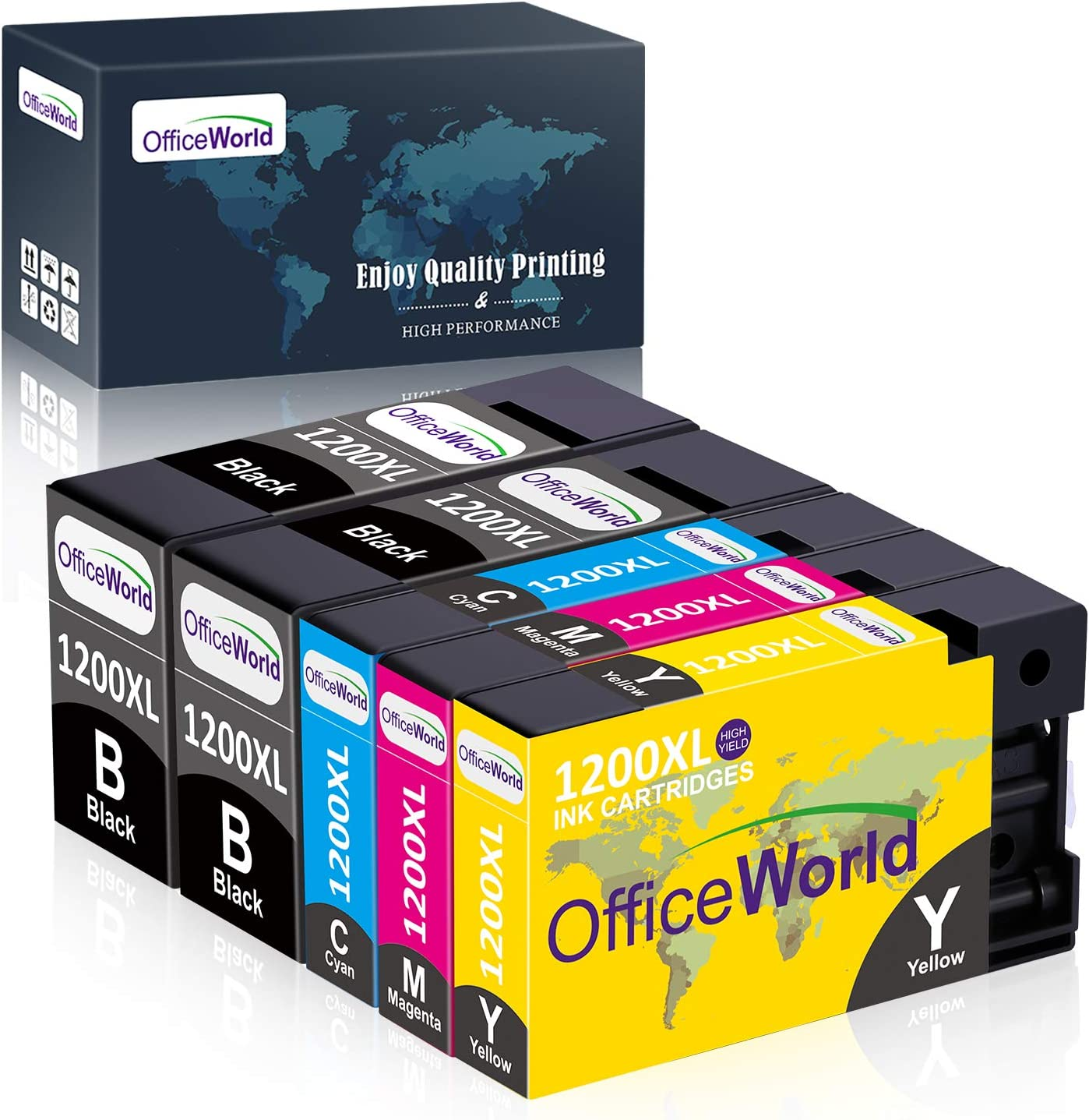 Ink /& Toner USA Compatible Ink Cartridge Replacement for Canon PGI-1200XL C MB2020 9196B001 Works with: MAXIFY MB2320 Cyan