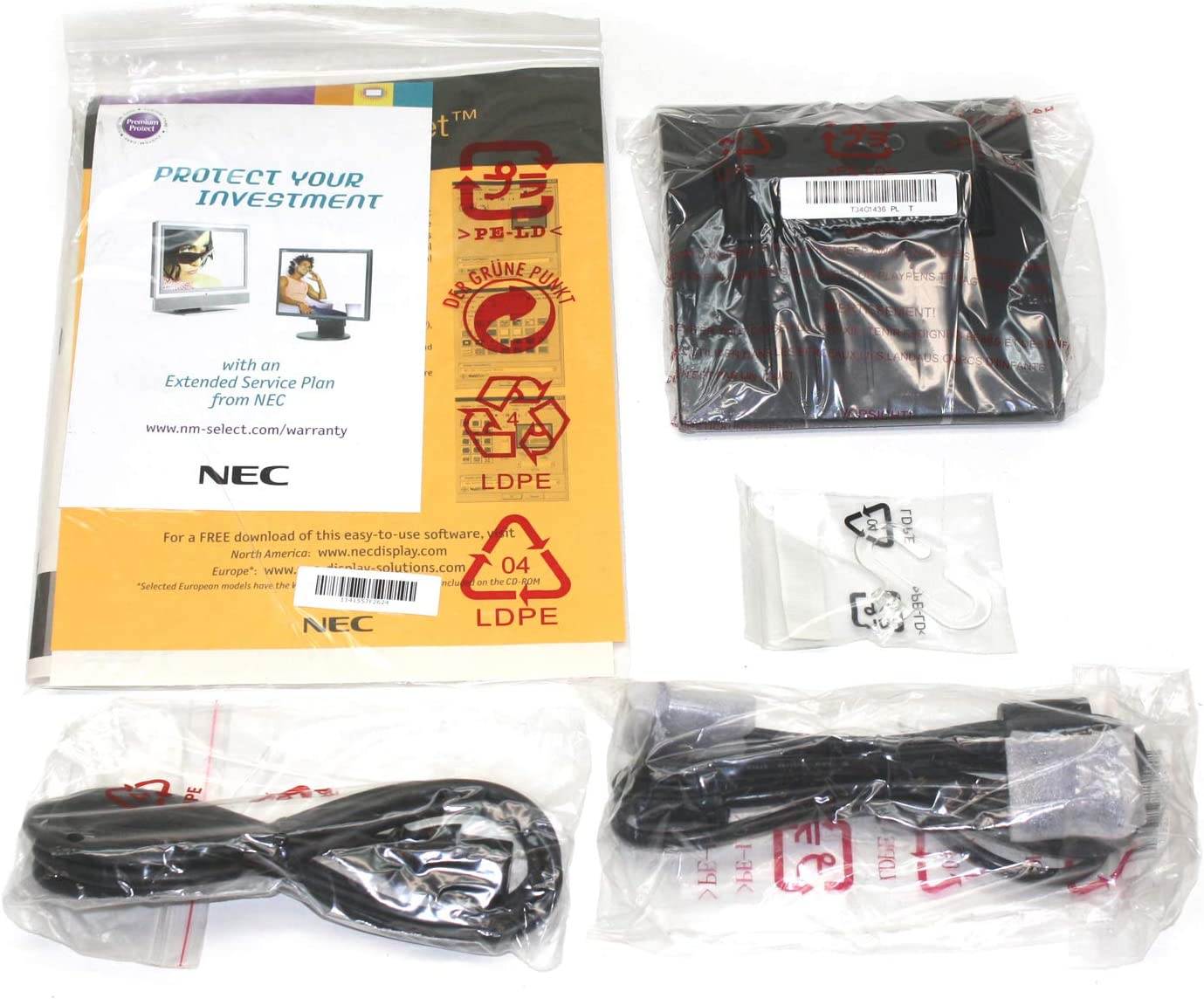 NEW NEC AccuSync LCD52V AC Power Cord Cable Plug