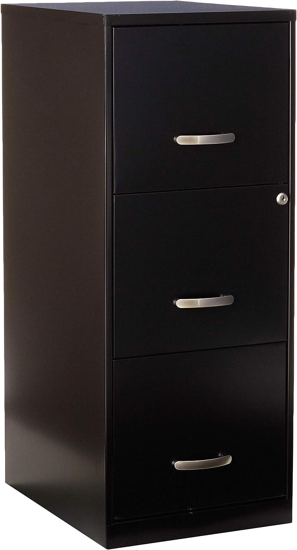 Lorell SOHO Chrome Pull F//F Mobile File Cabinet