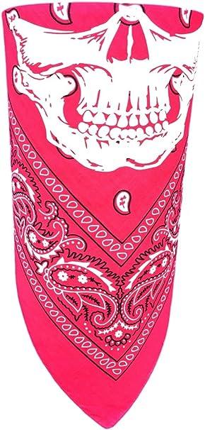 Mens pink paisley cotton neckerchief