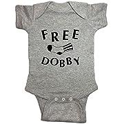 Harry Potter Baby One Piece  Free Dobby  Bodysuit (6 Month, Heather Grey)