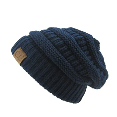 30324f40ce31c Image Unavailable. Image not available for. Color  Slouchy Beanie for Men Winter  Hats for Women Navy