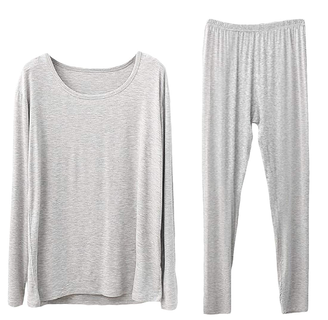 Macondoo Womens Base Layering Plus Size Long Johns Thermal Underwear Sets