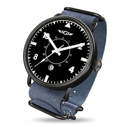 SGS Eagle ABWN - Reloj piloto de cristal de zafiro automático para hombre
