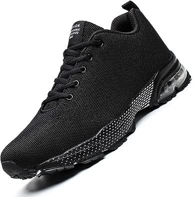 Socviis - Zapatillas de Correr para Hombre, Transpirables, Ligeras, Deportivas, Deportivas, para Caminar, atléticas, para Hombre, Negro (Negro), 39 EU: Amazon.es: Zapatos y complementos