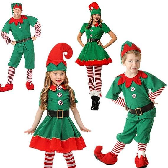 Elf Green Family Matching Pijamas de Navidad Hombres Mujeres ...