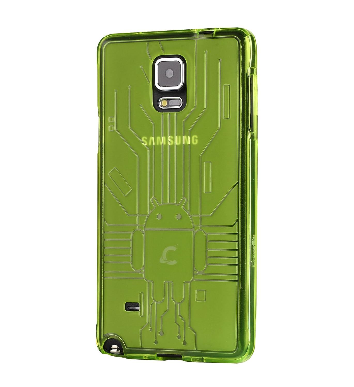 CruzerLite Bugdroid Circuit - Carcasa para Samsung Galaxy Note 4, verde