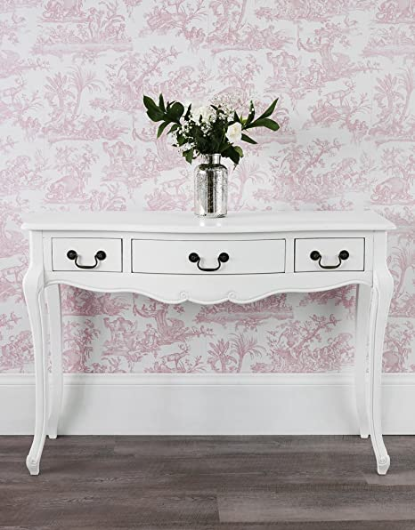 Juliette Antique White Console Table Hallway table Amazoncouk