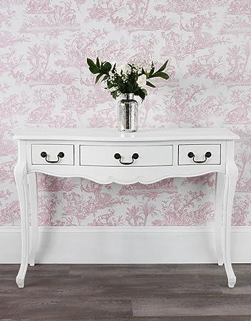 Juliette Antique White Console Table, Hallway Table