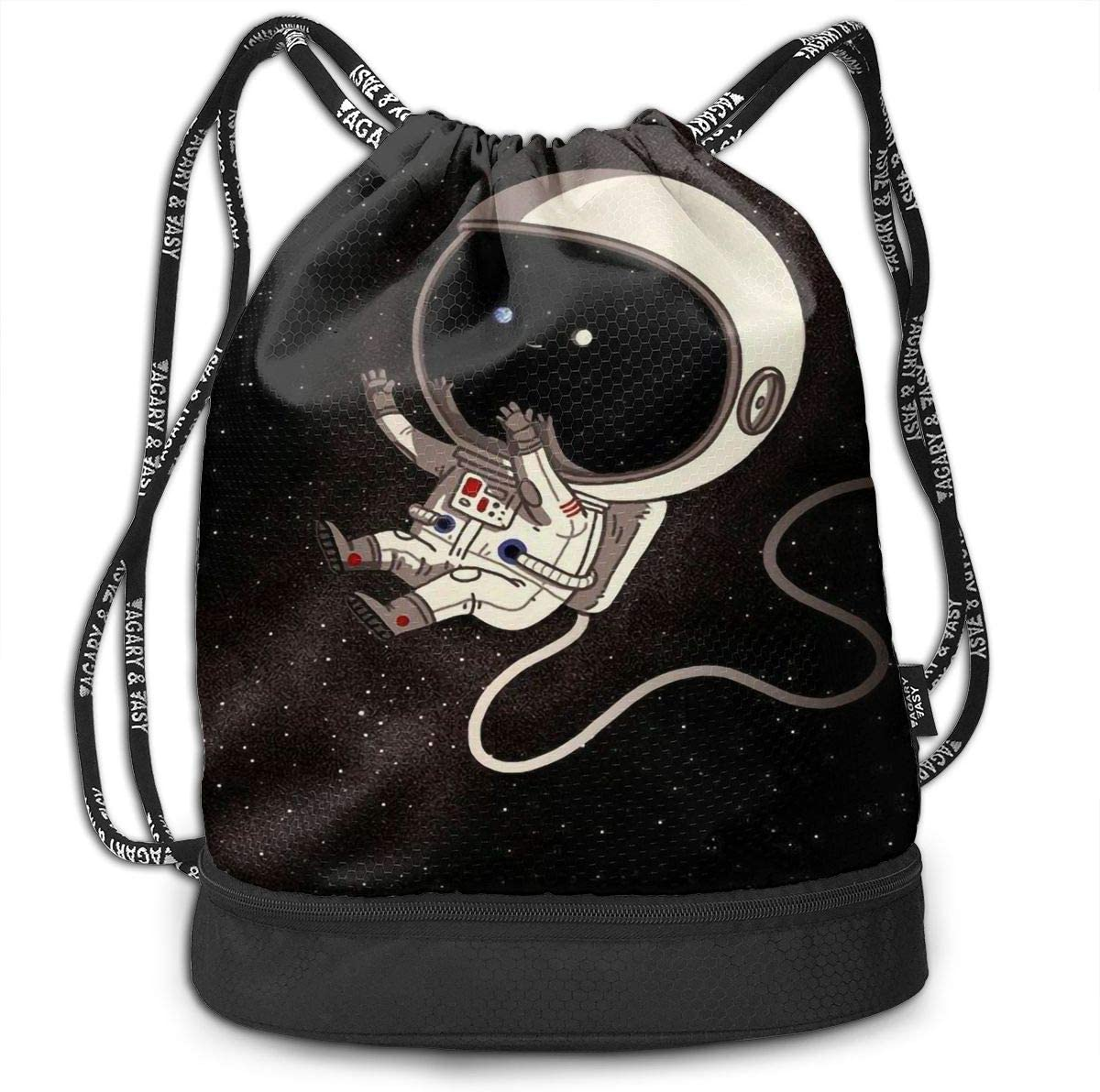 Drawstring Backpack Astronaut Space Galaxy Shoulder Bags