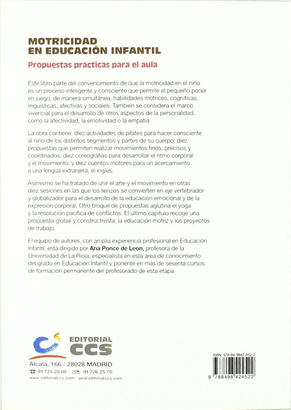 Motricidad en Educación Infantil: Propuestas prácticas para el aula ...