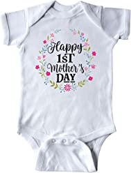 f283e0ff5 inktastic - Happy 1st Mothers Day Outfit Girls Infant Creeper 2f629