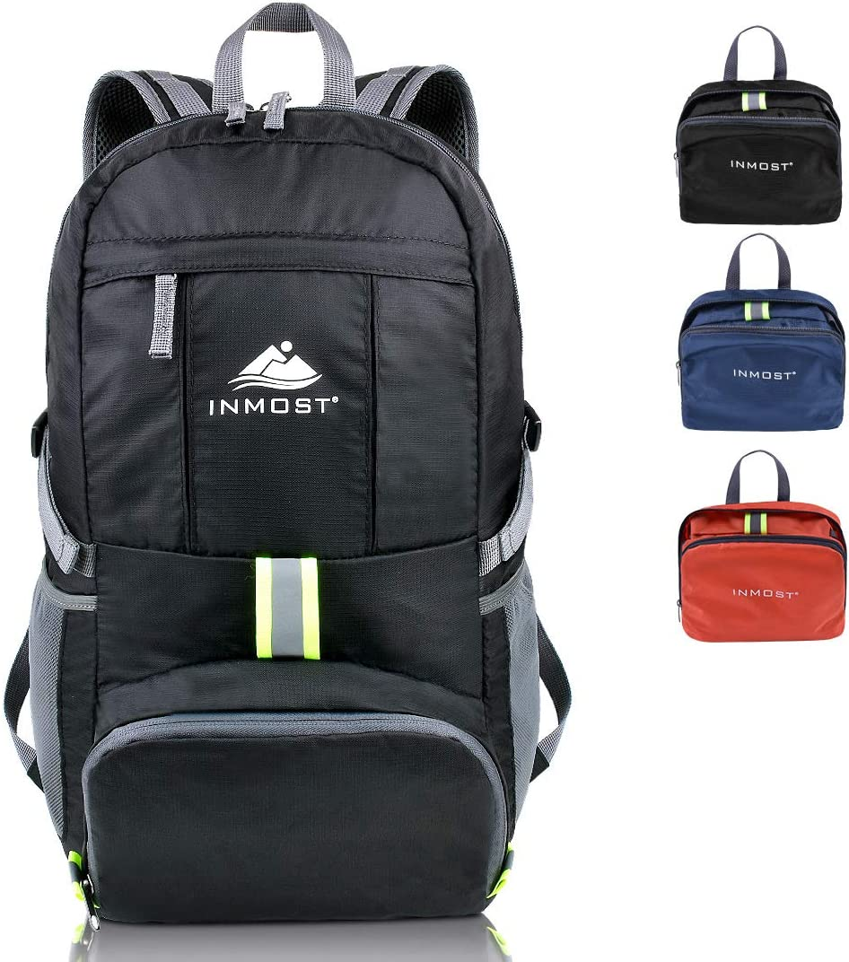 INMOST Lightweight Packable Travel Backpack, 35L Water Resistant Hiking Daypack Outdoor Backpack for Men Women