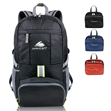 INMOST Lightweight Packable Travel Backpack, 35L Water Resistant Hiking  Daypack Outdoor Backpack for Men   bef58c3509