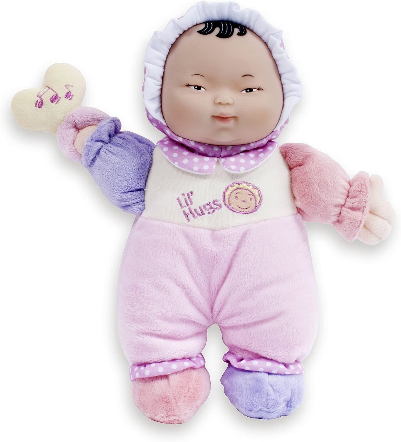 48001 Your First Baby Doll JC Toys Lil/' Hugs African American Pink Soft Body Ages 0+ JC Toys Group Inc Designed by Berenguer