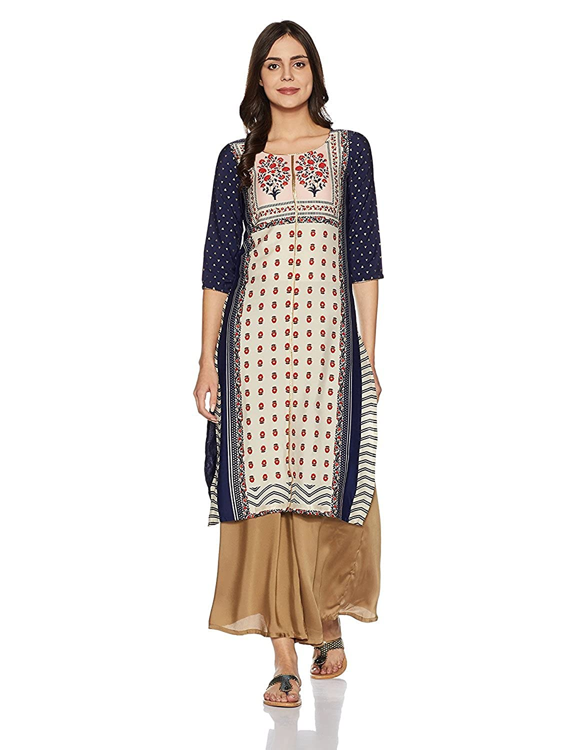 Indian Handicrfats Export W for Woman Straight Kurta (Size  S)