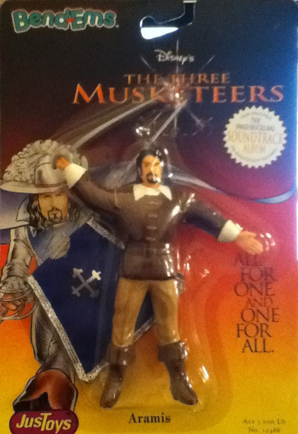 The Three Musketeers - Aramis (Charlie Sheen) - Bendable Figure - 1993