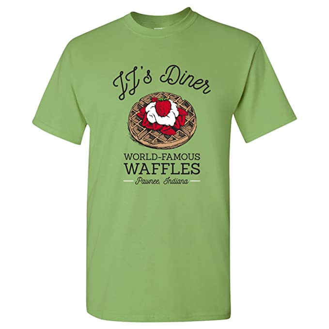 4cfe92f0 Amazon.com: JJ's Diner - Leslie World's Best Waffles TV Show T Shirt ...