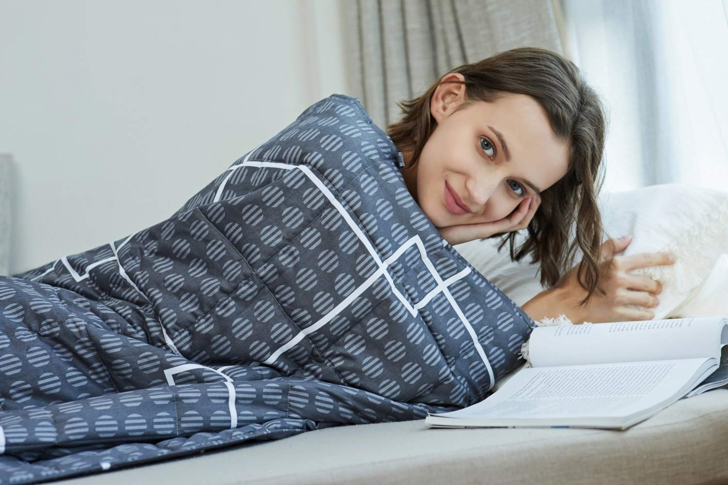 | 2.0 Heavy Blanket YnM Weighted Blanket 100/% Cotton Material with Glass Beads 7 lbs for Kids, 41x60