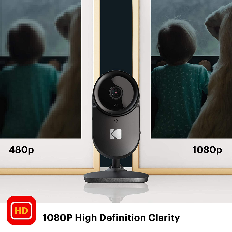 Wireless Surveillance Camera with Infrared Night-Vision WiFi Camera Full-HD Home Security Camera KODAK Cherish F670 /— Smart Mobile App 120deg View Zoom