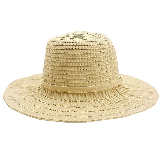 8ddd4e196bea75 foclock Fashion Design Women Summer Large Striped Folding Cap Topee Beach  Sunhat Wide Brim Straw Hat