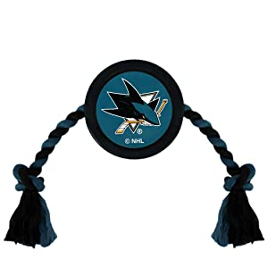 NHL SAN Jose Sharks Puck Toy for Dogs & Cats. Play Hockey with Your Pet with This Licensed Dog Tough Toy Reward!