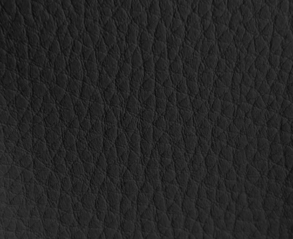 HAPPERS 1 Metro de Polipiel para tapizar, Manualidades, Cojines o forrar Objetos. Venta de Polipiel por Metros. Diseño Luna Color Negro Ancho 140cm