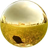 Lily's Home Gazing Globe Mirror Ball in Gold Stainless Steel. (12 inch)