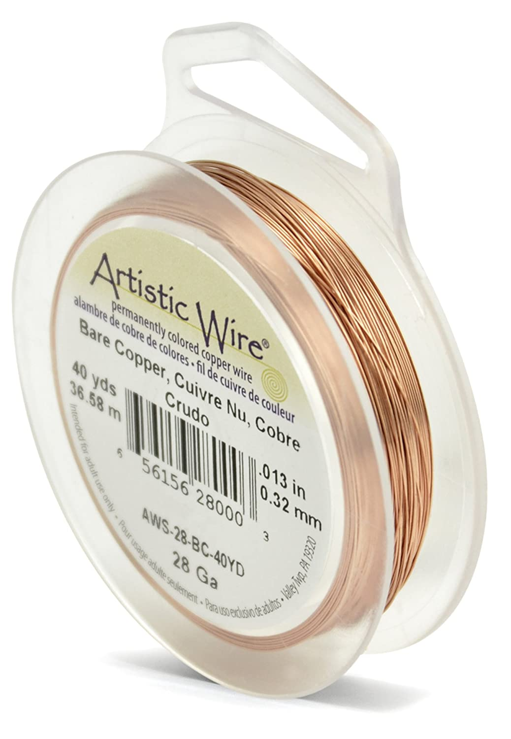 Artistic wire 40 yd 28 gauge wire bare copper amazon artistic wire 40 yd 28 gauge wire bare copper amazon kitchen home greentooth Choice Image