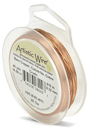 Artistic wire 40 yd 28 gauge wire bare copper amazon artistic wire 40 yd 28 gauge wire bare copper keyboard keysfo Choice Image