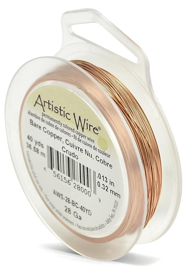 Amazon.com: Beadalon Artistic Wire 28-Gauge Bare Copper Wire, 40-Yards