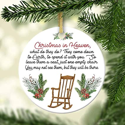 Christmas In Heaven.Amazon Com Christmas In Heaven Chair Ornament Memorial