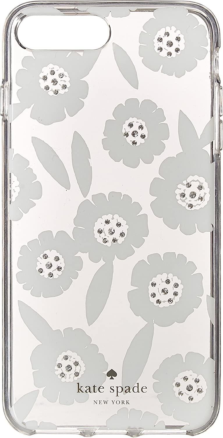 Kate Spade New York Women's Jeweled Majorelle Phone Case for iPhone 7 Plus/iPhone 8 Plus Clear Multi One Size 8ARU2337