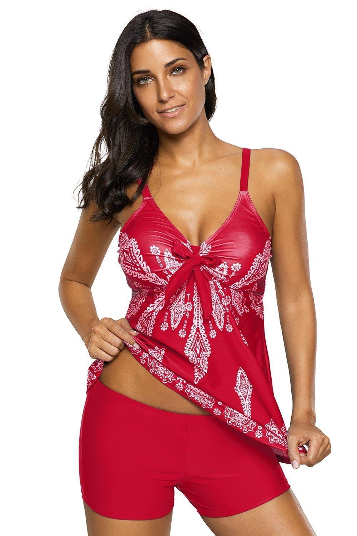 Urban Virgin Womens 2 Piece Swimwear Printed Padded Tankini Swimsuits for Women MNUSAUVBE0B4767