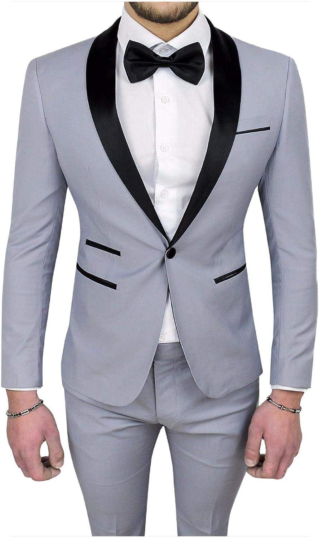Outwear - Traje de novio con un botón para hombre, color gris ...