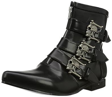 Pleaser Men's Brogue-06 Boot,Black Nappa Polyurethane,8 ...